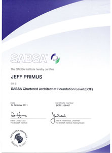 SABSA Certificate Sample