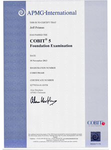 COBIT 5 Cettificate Sample