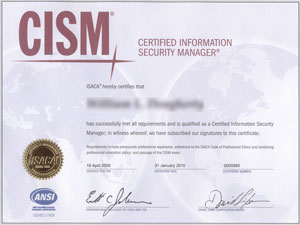 CISM Certificate Sample