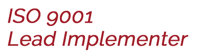 ISO 9001 Lead implementer